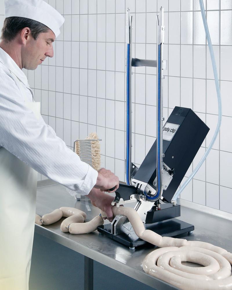 butcher at machine