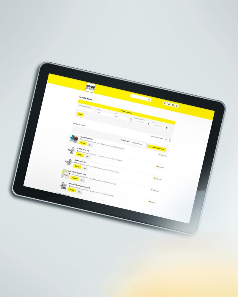 Poly-clip academy on tablet