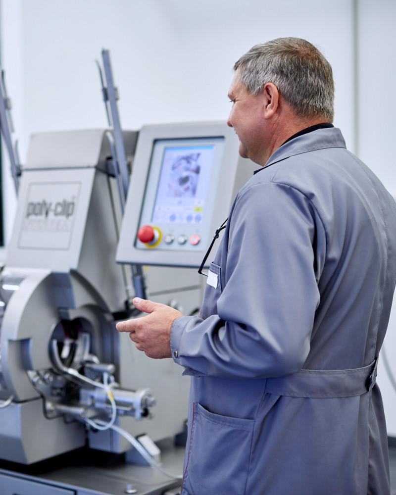 Machine training on location