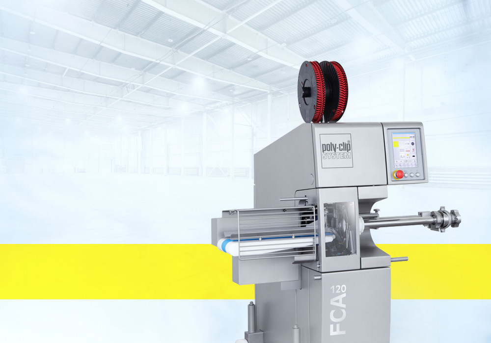 Clipping machine FCA 120 in industry hall