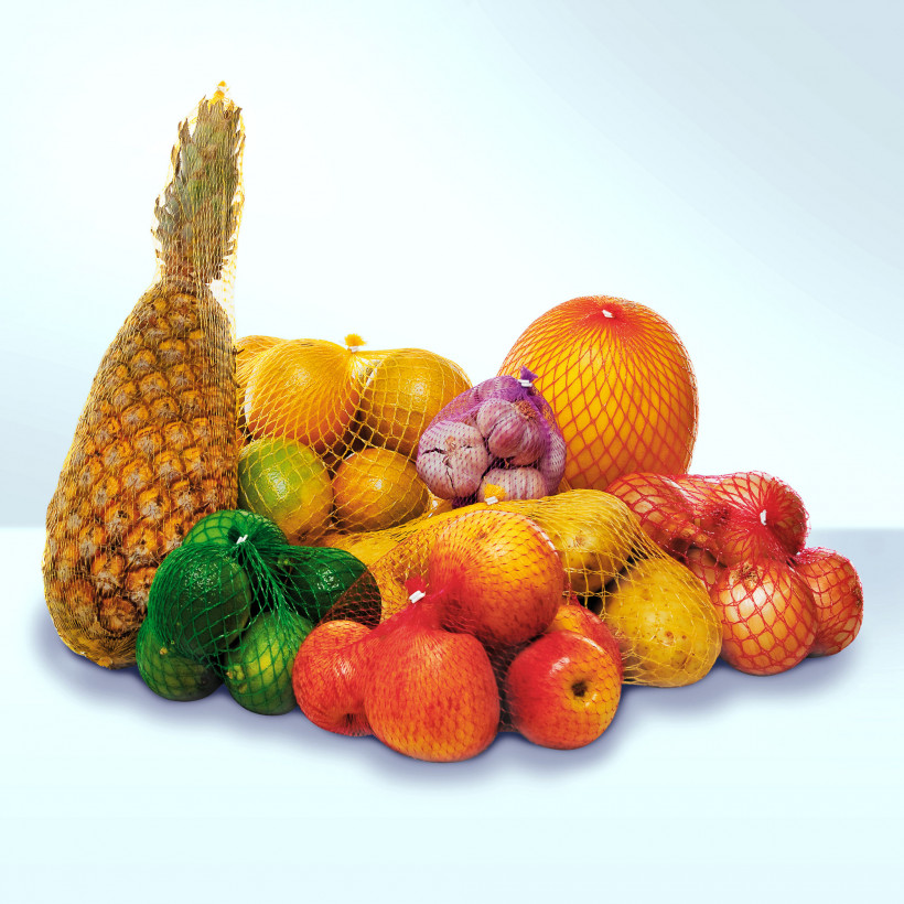 Fruits & vegetables in net bags