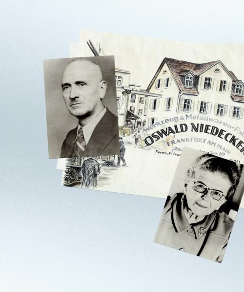 Niedecker history postcards