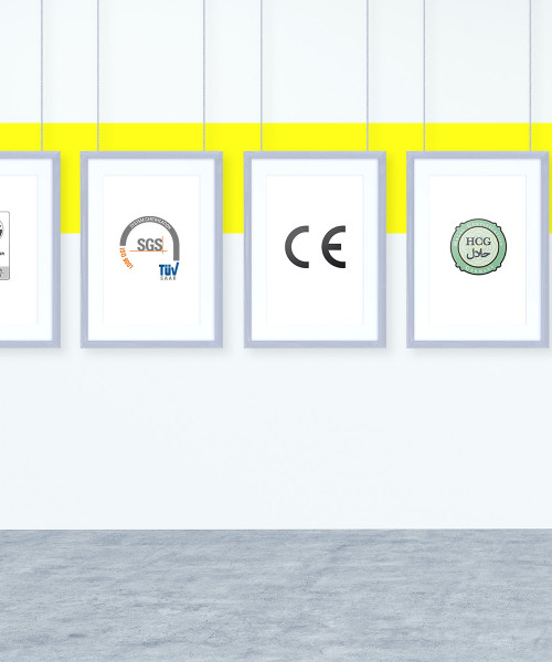 certifications on the wall