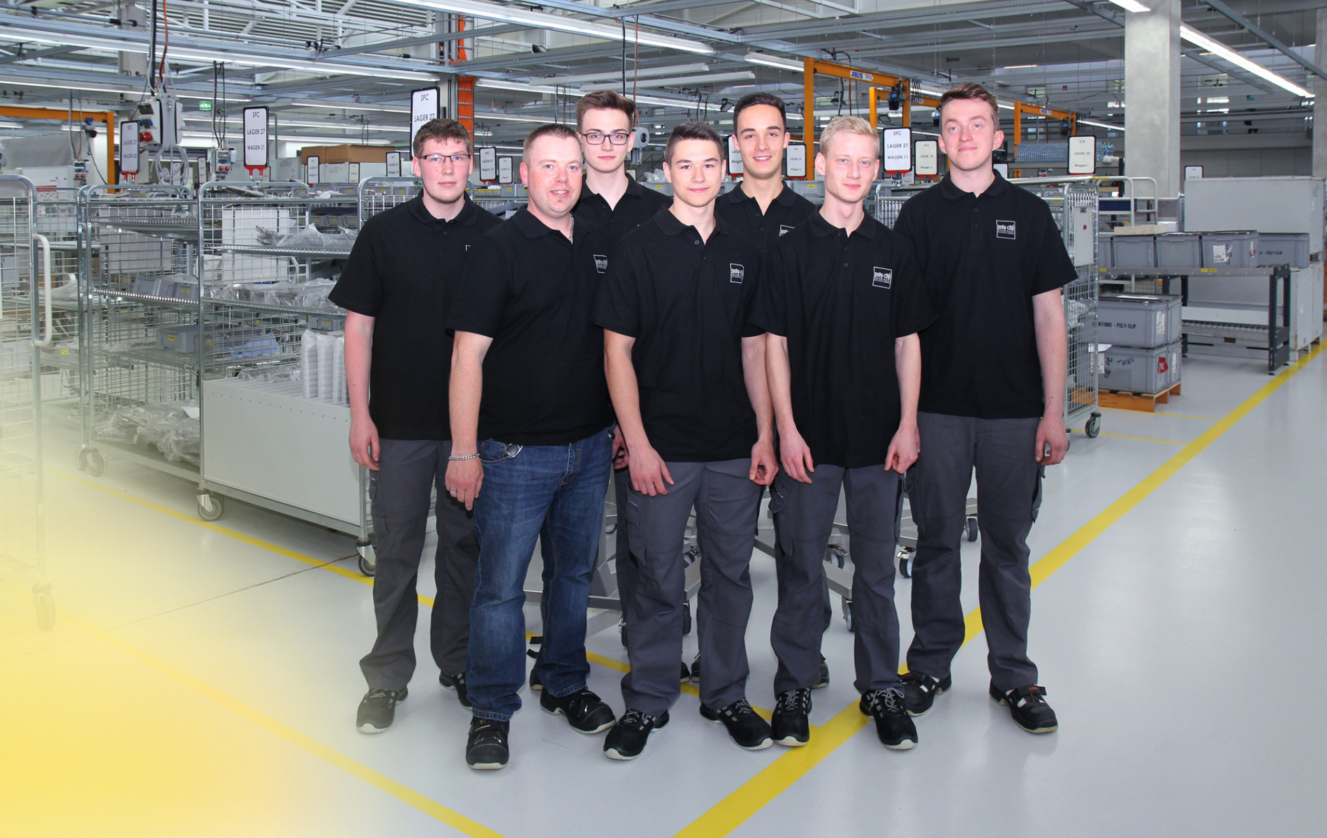 young employees group